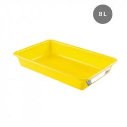 Bac plat 8 Litres - jaune - HACCP Gilac Bacs petits volumes