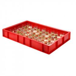 Caisse pleine à pâtons 15 Litres - rouge - PEHD Gilac Caisses de transports