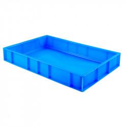 Caisse pleine à pâtons 15 Litres - bleu - PEHD Gilac Caisses de transports