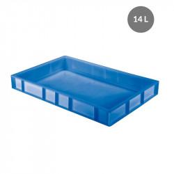 Caisse pleine à pâtons 14 Litres - bleu - PEHD Gilac Caisses de transports