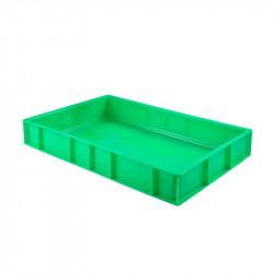 Caisse pleine à pâtons 15 Litres - vert - PEHD Gilac Caisses de transports
