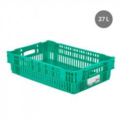 Caisse liaison froide 27 L - vert Gilac Bacs métiers