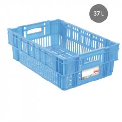 Caisse liaison froide 37 L - bleu Gilac Bacs métiers