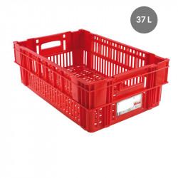 Caisse liaison froide 37 L - rouge Gilac Bacs métiers