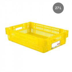 Caisse liaison froide 27 L - jaune Gilac Bacs métiers