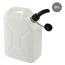 Jerrican 20 Litres + bec verseur - blanc - PEHD Gilac Contenants pour liquides
