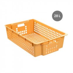 Grande caisse 28 Litres viennoiserie - beige - polypropylène Gilac Caisses de transports