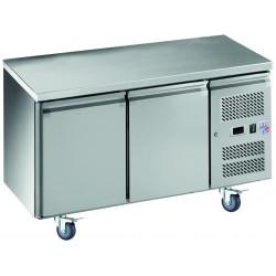 Desserte 282 litres réfrigérée, 2 portes pleines GN 1/1, sur roulettes EQUIPEMENT DIRECT Tables et soubassements