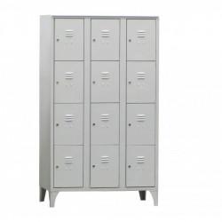 Armoire/Vestiaires 3 colonnes, 12 casiers, acier EQUIPEMENT DIRECT Casiers / Vestiaires