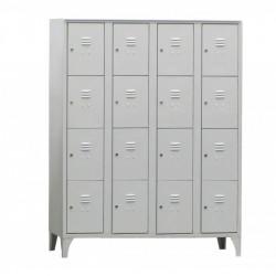 Armoire/Vestiaires 4 colonnes,16 casiers, acier EQUIPEMENT DIRECT Casiers / Vestiaires