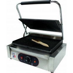 Grill panini simple rainurée - surface : L 340 x P 230 mm - inox EQUIPEMENT DIRECT Paninis