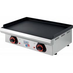 Plancha électrique lisse - 4000 W - Surface acier : 750 x 390 mm - inox L2G Planchas