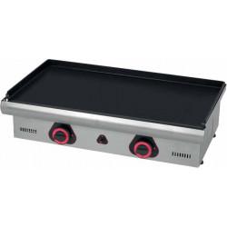 Plancha à gaz lisse - Surface acier : 440 x 390 mm - inox L2G Planchas