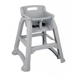 Chaise haute empilable grise BOLERO Pour les enfants