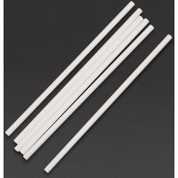 Lot de 250 pailles L 210 mm, en papier blanches EQUIPEMENT DIRECT Produits jetables écologiques