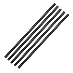 Lot de 250 pailles L 210 mm, en papier noires EQUIPEMENT DIRECT Produits jetables écologiques