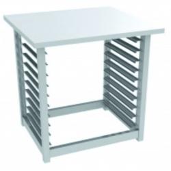 Piètement pour fours 10 niveaux - H 670 x L 740 x P 570 mm - inox - Gastro M  GASTRO M Accessoires et pièces détachées
