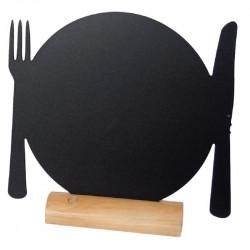 """Lot de 3 silhouettes de tables '' assiettes """" en ardoise, SECURIT SECURIT Panneaux et ardoises"""