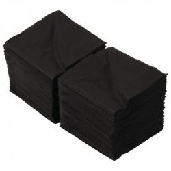 Lot de 2000 serviettes cocktail, L 250 mm, 4 plis, noir EQUIPEMENT DIRECT Accessoires et pièces détachées