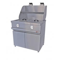Friteuse à gaz 2 cuves 13 litres - Ø 360 mm , mécanique - HEAVY DUTY DIAMOND Friteuses GAZ