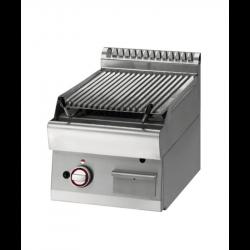 """Grill pierre de lave, GN 1/2 module, grille en fonte """"double face"""" - 1 zone DIAMOND Grills - Charcoals"""