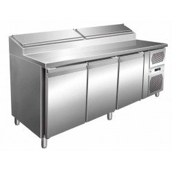 Table réfrigérée 417 litres, 3 portes GN 1/1 L2G Comptoirs de préparation