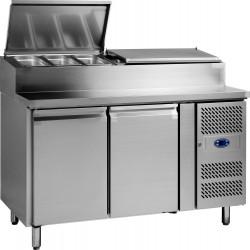 Table réfrigérée 390 litres, 2 portes 600 x 400 mm L2G Comptoirs de préparation