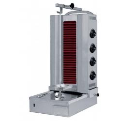 Grill kebab électrique 400 V, 6400 W - capacité max. 80 Kg - Vitrocéramique Sofraca Grills Kebab