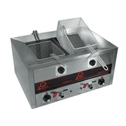 Friteuse double - 230 V, 7000 W - 2 x 7 litres - COMPACT LINE 500 Sofraca Friteuses à poser