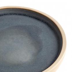 Lot de 6 assiettes plates à bord droit Ø 180 mm, bleu granit - CANVAS OLYMPIA Collection Canvas
