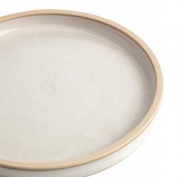 Lot de 6 assiettes plates à bord droit Ø 180 mm, blanc Murano - CANVAS OLYMPIA Collection Canvas