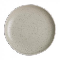 Lot de 6 assiettes plates Ø 205 mm, sable - CHIA OLYMPIA Collection Chia