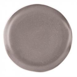 Lot de 6 assiettes plates Ø 205 mm, gris - CHIA OLYMPIA Collection Chia