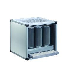 Groupe filtrant 9 cylindres de charbon actif  EQUIPEMENT DIRECT Caissons à charbon actif
