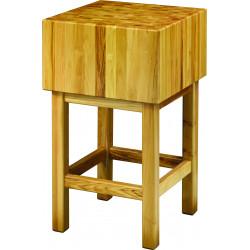 Billot L 600 x P 600 x H 900 mm, en bois d'acacia   Billots