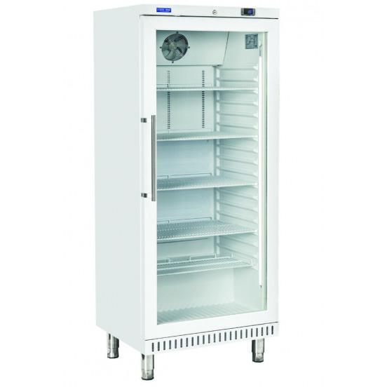 Armoire pâtissière positive 440 litres, 1 porte vitrée - acier laqué blanc COOL HEAD Vitrines XL
