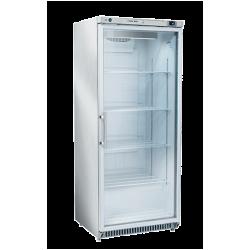 Réfrigérateur 600 litres vertical, une porte vitrée - inox COOL HEAD Armoires vitrées