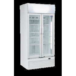 Réfrigérateur 600 litres vertical pour boissons, 2 portes vitrées COOL HEAD Armoires vitrées