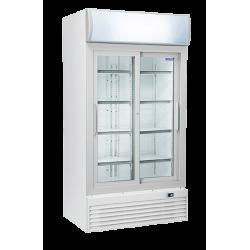 Réfrigérateur 800 litres vertical pour boissons, 2 portes vitrées COOL HEAD Armoires vitrées