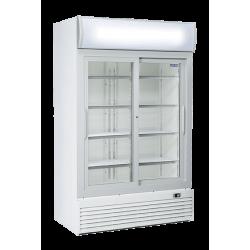 Réfrigérateur 1000 litres vertical pour boissons, 2 portes vitrées COOL HEAD Armoires vitrées