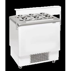 Vitrine à crèmes glacées, 256 litres 6 pots COOL HEAD Congélateurs coffres
