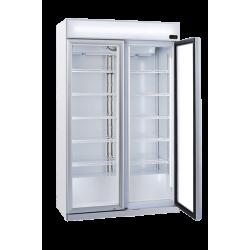 Réfrigérateur vertical 1050 litres à boissons + bandeau lumineux COOL HEAD Armoires vitrées