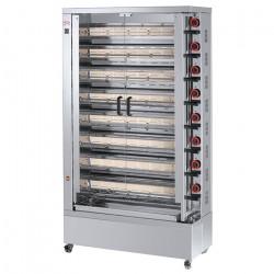 Rôtissoire électrique vitro-céramique, 8 broches, 40 à 48 poulets - EKO FECA Rôtissoires