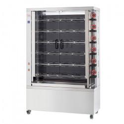 Rôtissoire électrique vitro-céramique, 6 broches, 30 à 36 poulets - EKO FECA Rôtissoires