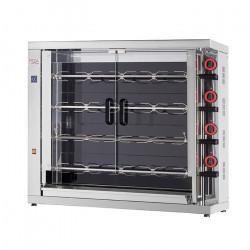 Rôtissoire électrique vitro-céramique, 4 broches, 20 à 24 poulets - EKO FECA Rôtissoires
