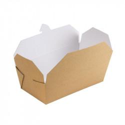 250 Cartons alimentaires rectangulaires kraft Colpac Tous les accessoires pour la vente à emporter