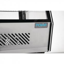 Vitrine réfrigérée 120 litres, inox - POLAR POLAR Vitrines réfrigérées à poser
