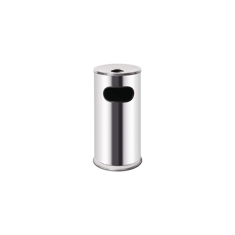 Poubelle / Cendrier 35 Litres, inox BOLERO Poubelles