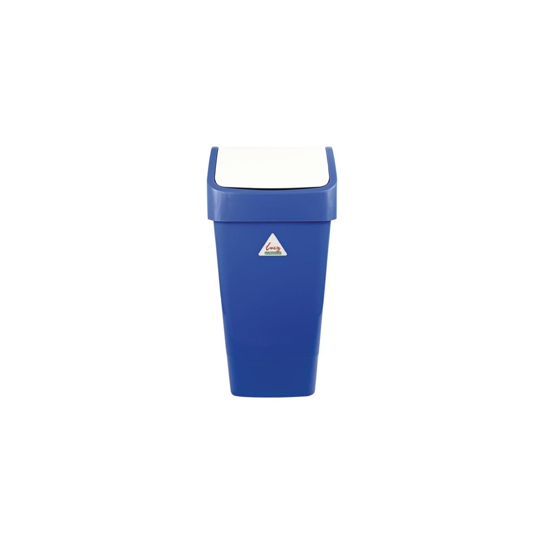 Poubelle 50L à couvercle battant, bleue EQUIPEMENT DIRECT Poubelles