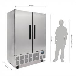 Armoire réfrigérée 960 Litres positive 2 portes inox POLAR Armoires positives (+1°C+6°C)